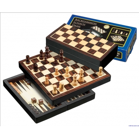Kelioninis šachmatų-nardų-šaškių rinkinys (magnetinis)